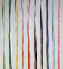 Gingham Check 5mm Ribbon 5Mtrs