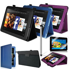 "3 Bundle Accessory Kit PU Leather Stand Case For Amazon Kindle Fire HD 8.9"" Inch"