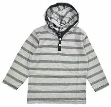 Mick Mack Toddler Boys Striped Black & White Hooded Top Size 2T 3T 4T