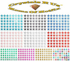 GLITTER 10mm STAR IRON-ON CUSTOMIZE FASHIONABLE FUN PARTY EVENT COSTUME DRESS