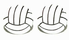 VOLLEYBALL STUD or CLIP ON EARRINGS ~ 2 CHOICES ~ U PICK