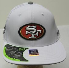 NFL San Francisco 49ers Reebok 2 In 1 Visor Flat Bend Curved Cap Hat L/XL NEW!