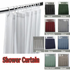 JACQUARD Stripe Shower Curtain 180 x 180cm with 12 HOOKS - NEW