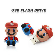 Cartoon Mario model USB 2.0 Memory Stick Flash pen Drive 4GB 8GB 16GB 32GB P16