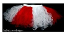 "12"" Cyber Tutu Red and White Japan Skirt World Cup Fancy Dress Japanese"