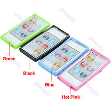 TPU Durable Thin Case Cover Skin With Belt Clip For Apple ipod Nano 7 7G 7th Gen
