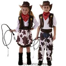 CHILDS COWBOY COWGIRL FANCY DRESS COSTUME WILD WESTERN CHARACTER OUTFIT 3-12YRS