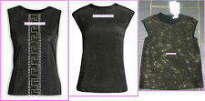 Versace for H&M UK 8 10 12 14 16 Black Silk Top Studded Metal Rivets New w Tags