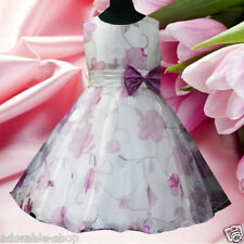 PU3211 Purples Holiday Wedding Party Flower Girls Dresses SIZE 2,3,4,5,6,7,8,10Y