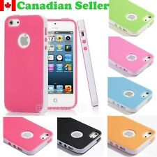 Shockproof Slim 2-Piece Matte TPU Case for iPhone 5/5S/SE and Screen Protector