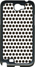 White and Chocolate Brown Polka Dots on Samsung Galaxy Note II 2 Hard Case Cover