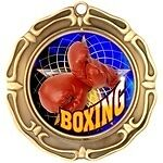 """3"""" Spinning Boxing Medals w/Ribbon Any Qty Ships Flat Rate in USA $5.49"""
