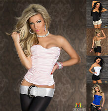 7007 UK SEXY FITTED CORSET LADIES TOPS WOMEN TOP ONLINE FASHION CLOTHING STORES