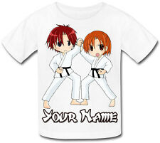 KARATE / KUNG FU PERSONALISED KIDS T-SHIRT - FAB GIFT FOR ANY CHILD & NAMED TOO
