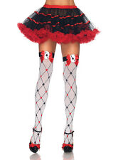 Sexy Card Suit Design Thigh High Stockings for Queen Alice in Wonderland Costume