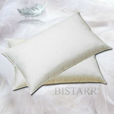 NATURAL DUCK FEATHER AND DOWN PILLOW PAIR - 250T COTTON COVER, 1000G WEIGHT EACH