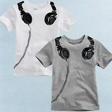 "NWT Vaenait Baby Toddler Kids Boy Unisex Round Neck Top T-Shirts "" Headphones """