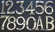 "2"" / 50mm CHROME VICTORIAN STYLE METAL DOOR NUMBERS 1,2,3,4,5,6,7,8,9,0 + A, B"