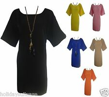 NEW LADIES WOMANS SUMMER SHORT DRESS/TUNIC/LONG TOP PLUS SIZE 18 to 22 UK