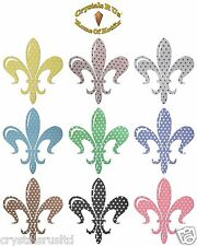 POLKADOT 140mm FLEUR DE LIS IRON-ON CUSTOMIZE FANCY PARTY TSHIRT TRANSFER PATCH