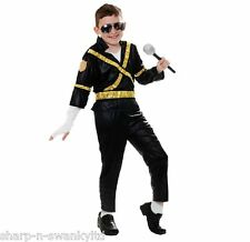☆ NEW Boys Michael Jackson 90s King of Pop Star Fancy Dress Costume Outfit ☆
