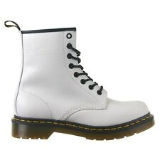 Dr. Martens Men's 1460 Casual 8-Eye Lace Up Smooth Leather Ankle Boots White