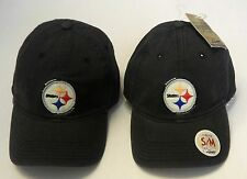 NFL Pittsburgh Steelers Reebok Slouch Distressed Hat Cap With Plaid Under-Brim