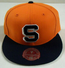 NCAA Syracuse Orange Mitchell and Ness Flat Brim Fitted Cap Hat M&N NEW!