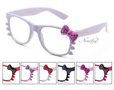 New Choose Your Colors Hello Kitty Style Clear Lens Glasses with Rhinestone Cute
