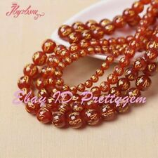 """Natural Round Carved Mantra Tibetan Red Agate Gemstone Beads 15"""" 8mm 10mm 12mm"""