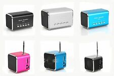 New Music Mini USB LCD MP3 Player FM Radio SD TF Card Player Stereo Speaker