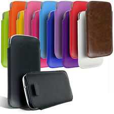 PU LEATHER PULL TAB SKIN CASE COVER POUCH FOR VARIOUS SAMSUNG MOBILE PHONES