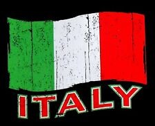 NATIONAL TRICOLOR FLAG OF ITALY PATRIOTIC TRICOLOUR ITALIAN FLAG T-SHIRT XT96