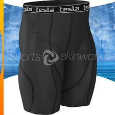 Mens Compression Plazma Skin Shorts Black/Black Stripe S07B/B S ~ 2XL