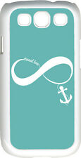 Teal Green and White Infinity Symbol with Anchor on Samsung Galaxy S3 Case Cover