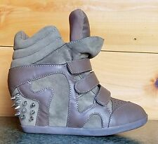 Privileged Just Studded Spike Wedge Sneaker Taupe Fashion 5.5 - 10  Comfort