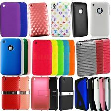 Stylish Soft Silicone TPU Gel Hard Back Stand Case Cover For Apple iPhone 3G 3GS
