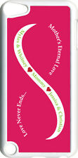 Light Pink & White Mother's Love Four Green Names on iPod Touch 5th Gen 5G Case