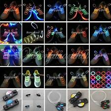 LED Light Up Shoelaces Shoestring Strap String Flash Glow Stick Party Disco ZX1