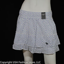 Abercrombie & Fitch Women's Skirt Polka Dot White NWT