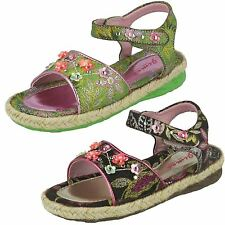 SALE CHILDS JIMEI SHOES VELCRO OVER SANDAL IN GREEN AND DARK COFFEE H1016