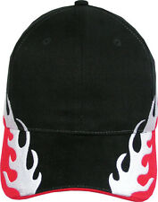 Pack Of 2 Pieces- Grand Prix Cap w/ Flame Details on The Visor