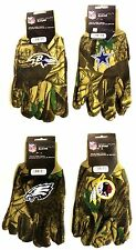 NWT NFL Camouflage No Slip Gripper All Purpose Utility Work Gloves Hunting Camo