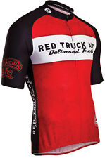 'Red Truck' Short Sleeve Cycling Jersey by Sugoi in Red
