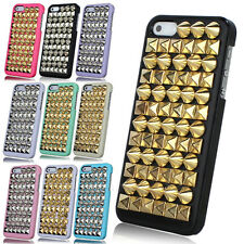 New Punk Spire Rivet Pyramid Silver Hard Back Case Cove Studded For iPhone 5 5G