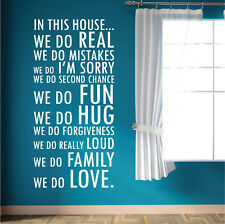 DecoMatters In This House We Do Bedroom Lounge Wall Quotes, Vinyl Wall Stickers