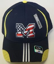 NCAA Michigan Wolverines Structured Flex Cap Hat NEW!