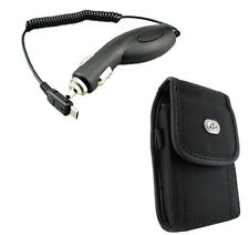Nice Rugged Case Pouch Cover + Car Vehicle Adapter Charger for ATT Phones