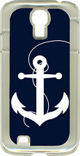 Large Anchor White or Pink on Samsung Galaxy S4 Hard or Rubber Case Cover
