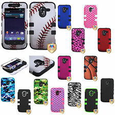 ZTE Avid 4G N9120 IMPACT TUFF HYBRID Layer Protector Phone Case Cover Accessory